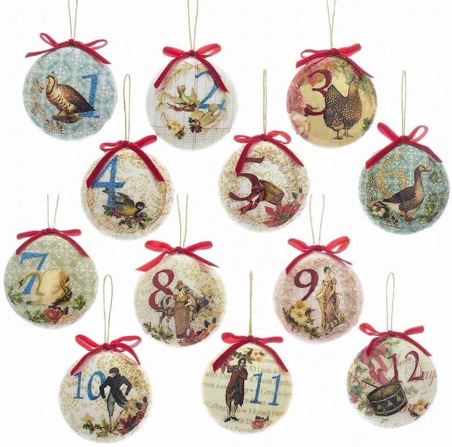 12 Days of Christmas Ornaments Sets To Buy in 2021